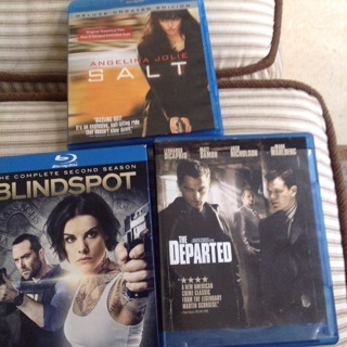 3 Blue Ray discs, for your viewing pleasures, Movie night fun.