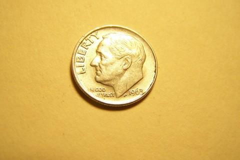 Silver 1963 Roosevelt Dime