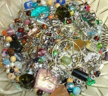 Random Jewelry Making Grab bag - Beads, Charms, Findings