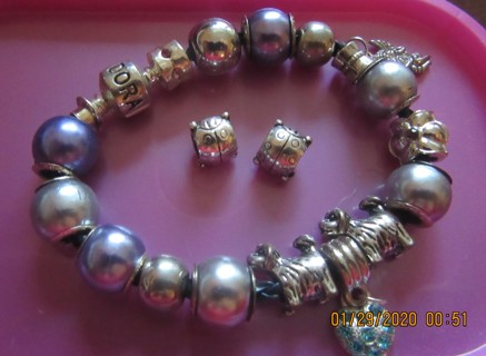 Lots and lots and lots of DIY charms, beads, a bracelet
