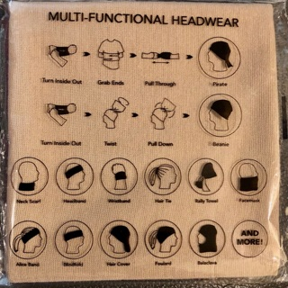 Brand New:Tan Face Covering/Headwear. Fashionable. Can be Worn In Multiple Positions! Never Worn!