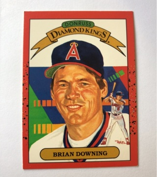Brian Downing 1989 Donruss Diamond Kings