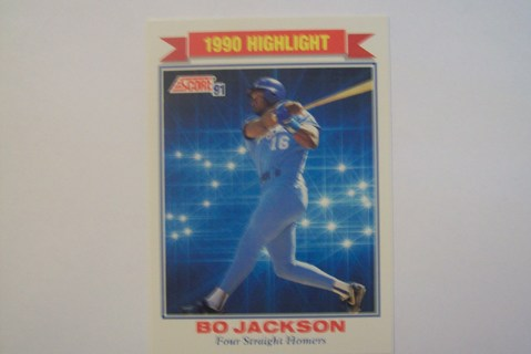 Free 1991 Score Highlight Bo Jackson 4 Straight Homers Kansas City