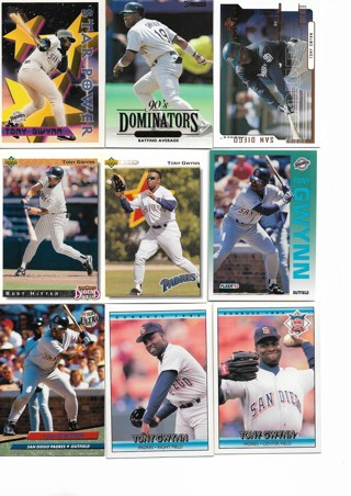 (9) Tony Gwynn Baseball Cards