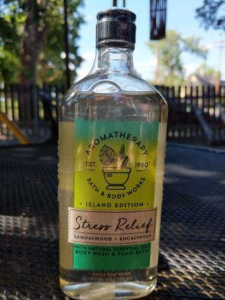B&BW aromatherapy stress relief body wash and foam bath