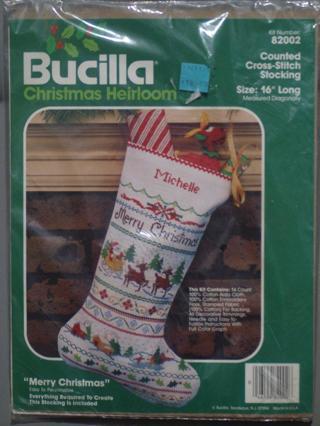 counted cross stitch christmas stocking kit - Cross Stitch Christmas Stocking Kits
