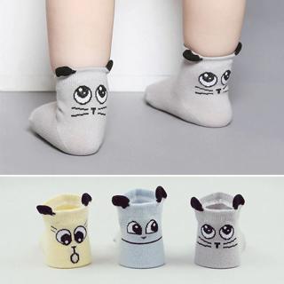 2018 Spring/Autumn Winter Baby Cotton Socks Boys Girls Newborn Infant Toddler Asymmetry Anti-slip