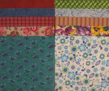 40 Fabric Charm Squares - Set #5