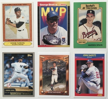 Huge Baseball Card Lot of 30 - Mike Trout, Hank Aaron, ARod, Barry Bonds, Ichiro and more!