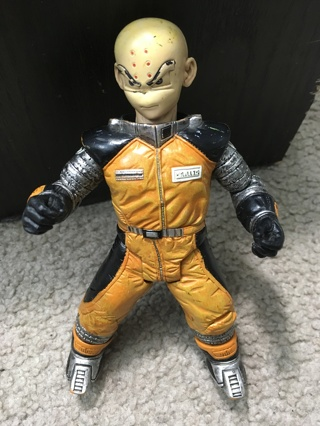 DBZ ANIME KRILLIN TOY ACTION FIGURE 2002 Krillin in Spacesuit Manga Dragon Ball Z Movie Collection