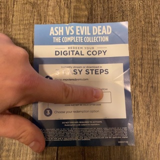 Ash vs Evil Dead the complete collection digital copy