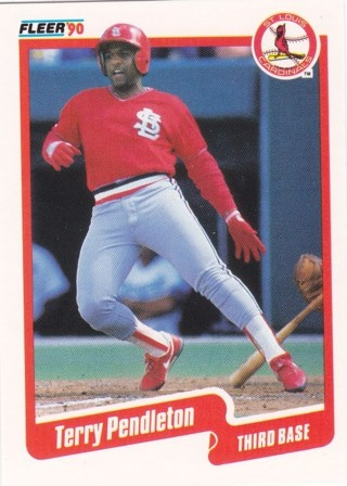 Terry Pendleton 1990 Fleer St. Louis Cardinals