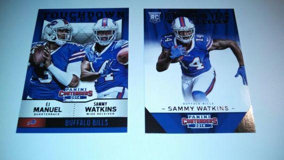 Sammy Watkins and EJ Manuel Buffalo Bills Football card Lot