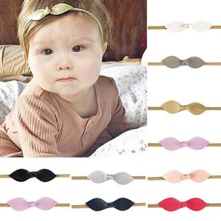 Baby Toddler Kids Girls Leather Bow Hairband Headband Hair Accessories