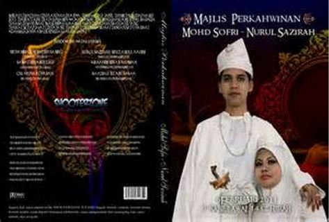 majlis perkahwinan dvd insert