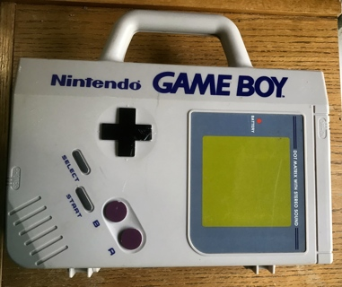 Vintage Original Nintendo Game Boy with Original Game Boy GB-80 Case 4 Games and Booklet
