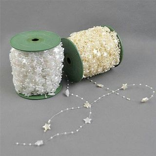 Star Shape Pearl Bead Garland Chain Wedding Centerpiece Flower/Table Decoration