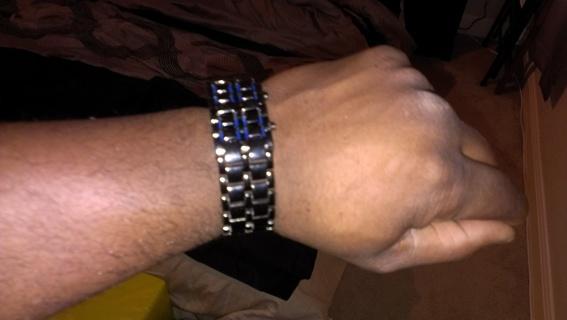 Black Bracelet/Watch 2 in 1