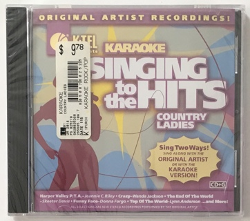 K-Tel Presents Singing To The Hits: Country Ladies - Karaoke CD+G - New Sealed