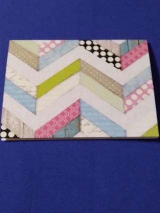 Zigzag Notecard