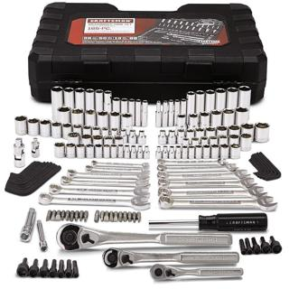Craftsman Mechanics Tool Set Kit Wrenches Sockets Ratchet SAE Metric 165 Pc