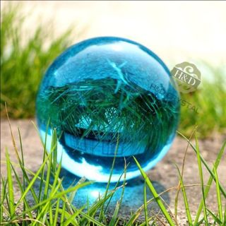 40mm Asian Rare Natural Quartz Sea Blue Magic Crystal Healing Ball Sphere*/ 406
