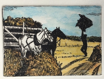 "HARVEST - 5 x 7"" Art Card by artist Nina Struthers - GIN ONLY"