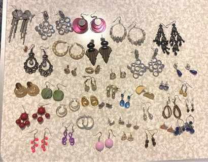 Preowned , 48 pair Pierced Earrings