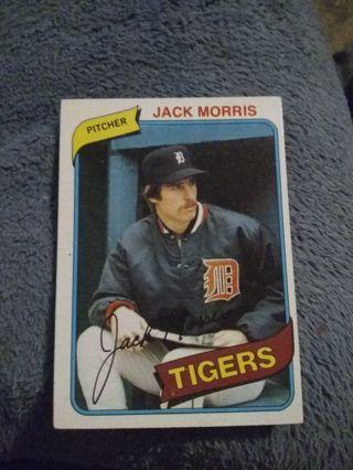 1980 Topps Detroit Tigers HOF Jack Morris
