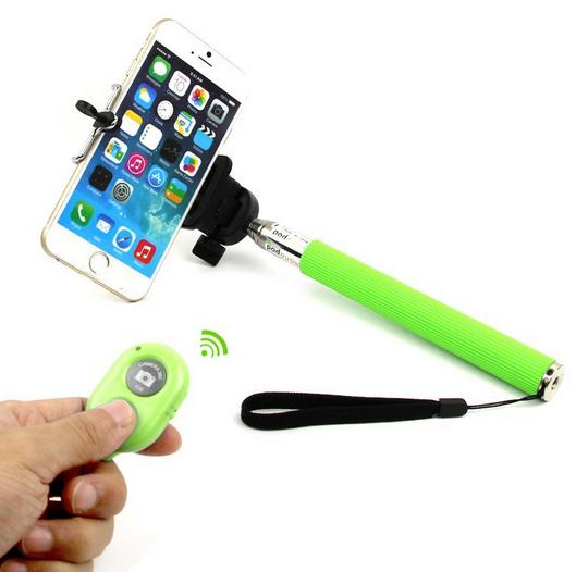 Free Extendable Selfie Stick Bluetooth Monopod Clip