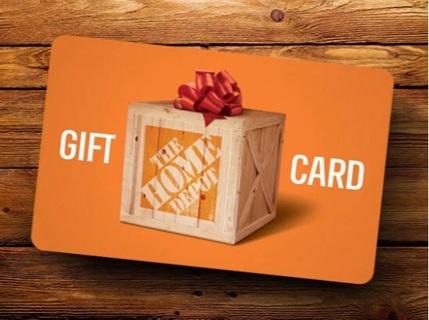$5 Home Depot gift card