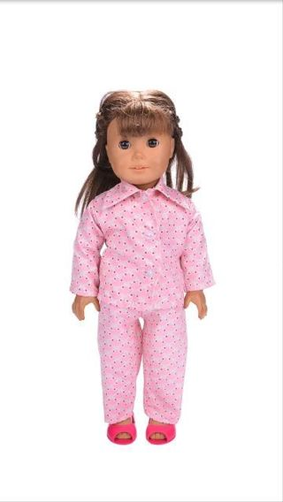 *** CUTE NEW PAJAMAS *** FITS AMERICAN GIRL - OUR GENERATION - 18 INCH DOLL *** FREE SHIPPING ***