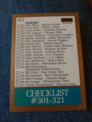 Basketball Card - Checklist #301-321