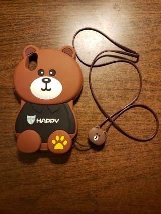 iPhone X Rubber Bear phone case