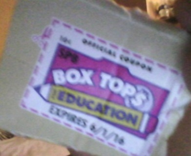 5 Box Tops for Education $$$
