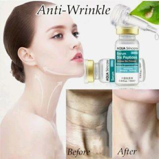 Six Peptides Serum Anti-Aging Moisturizing Skin Care Whitening Wrinkle Cream SO