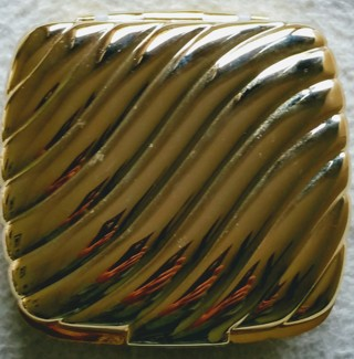 VINTAGE gold 1989 ALBERT E. PRICE GOLD MAKE-UP COMPACT