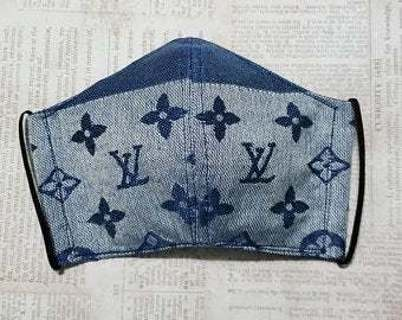 Hand Made Dust Mask/Face Mask~ Blue Designer Luxury theme~Teen/Woman/Medium Size~Handmade in the USA