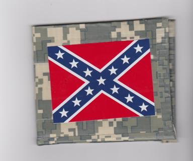 Rebel Flag Camo Duct Tape Wallet