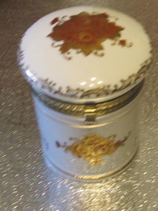 Gold Trimmed Porcelain Canister