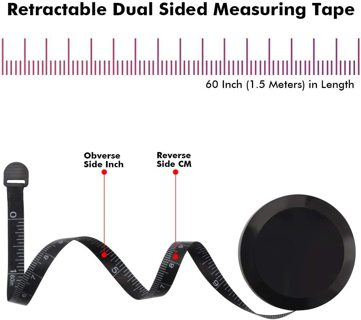Retractable Dual Sided Measuring Tape for Sewing