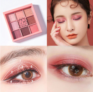 New Arrival Charming Eyeshadow Palette 9 Color Make up Palette Matte Shimmer Pigmented Eye Shadow