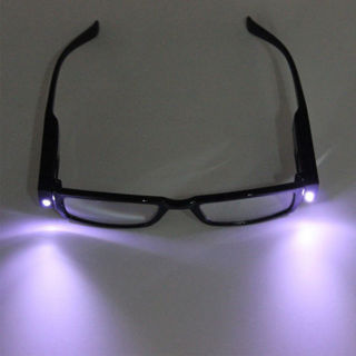 Useful Rimmed Reading Eye Glasses Eyeglasses Spectacal With LED Light Black