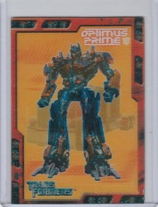 2007 Transformers Movie Cards Flix-Pix 1 of 5 Optimus Prime NM-Mint condition
