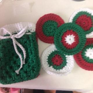 Hand Crochet Facial Scrubs in a Sack.