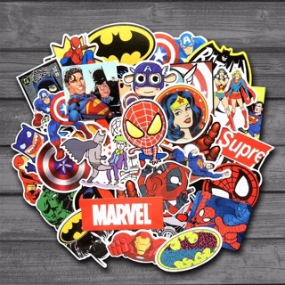 [GIN FOR FREE SHIPPING] 50 Pcs Stickers For MARVEL Super Hero DC