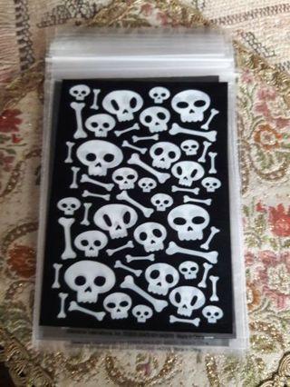 Black and White Skelton Ziploc Bags (Total 10)