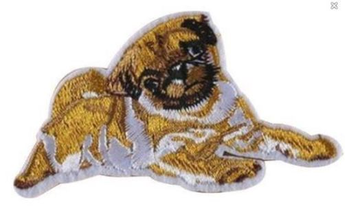 NEW IRON ON PATCH PUG DOG CUTE DOGGY Embroidery Applique Badge FREE SHIPPING