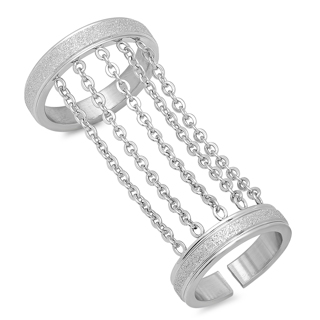 STAINLESS STEEL DOUBLE RING NEW Your style & size choice BE UNIQUE 4 STYLES