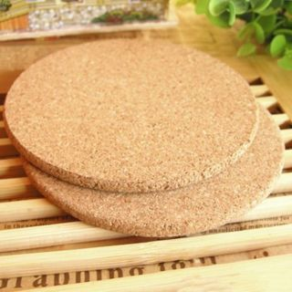 6PCs Cork Wood Drink Coaster Tea Coffee Cup Mat Table Decor Bottle Pad Tableware